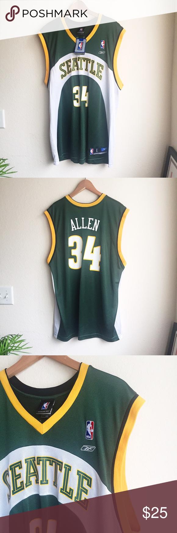 timeless design d43ce cc4d5 Ray Allen Supersonics throwback jersey Reebok | Officially ...