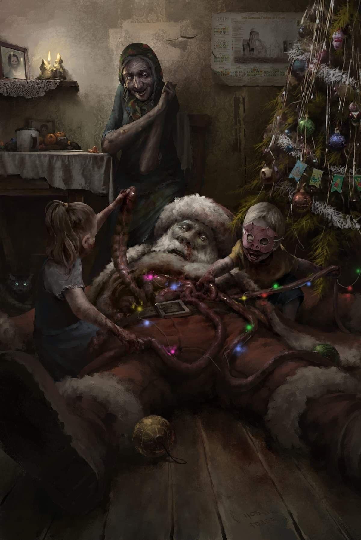 """Happy New Year"" by Max Kostin ArtStation Horror movie"