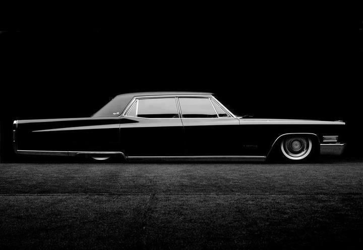 1967 Cadillac Fleetwood 67 Fleetwood Dropped Low In Gangster Black