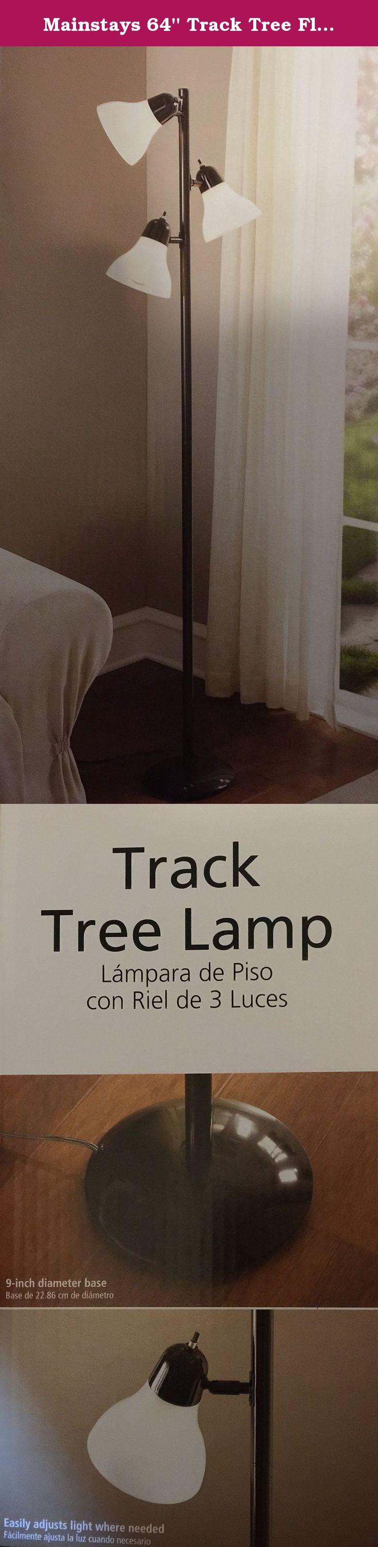 Mainstays 64 Track Tree Floor Lamp Black Painted Finish Home Has Plastic Shades On Off Switch Each Light Three