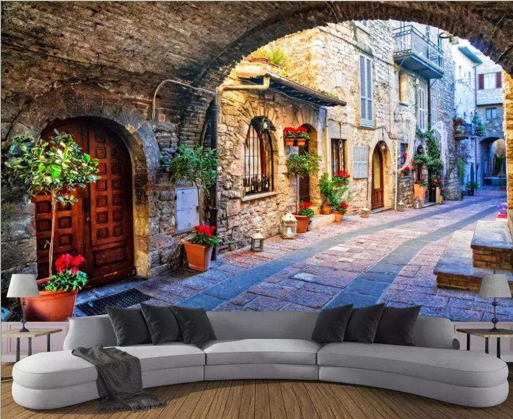 YOUMAN 3D Custom Photo Mural Wallpaper European Style