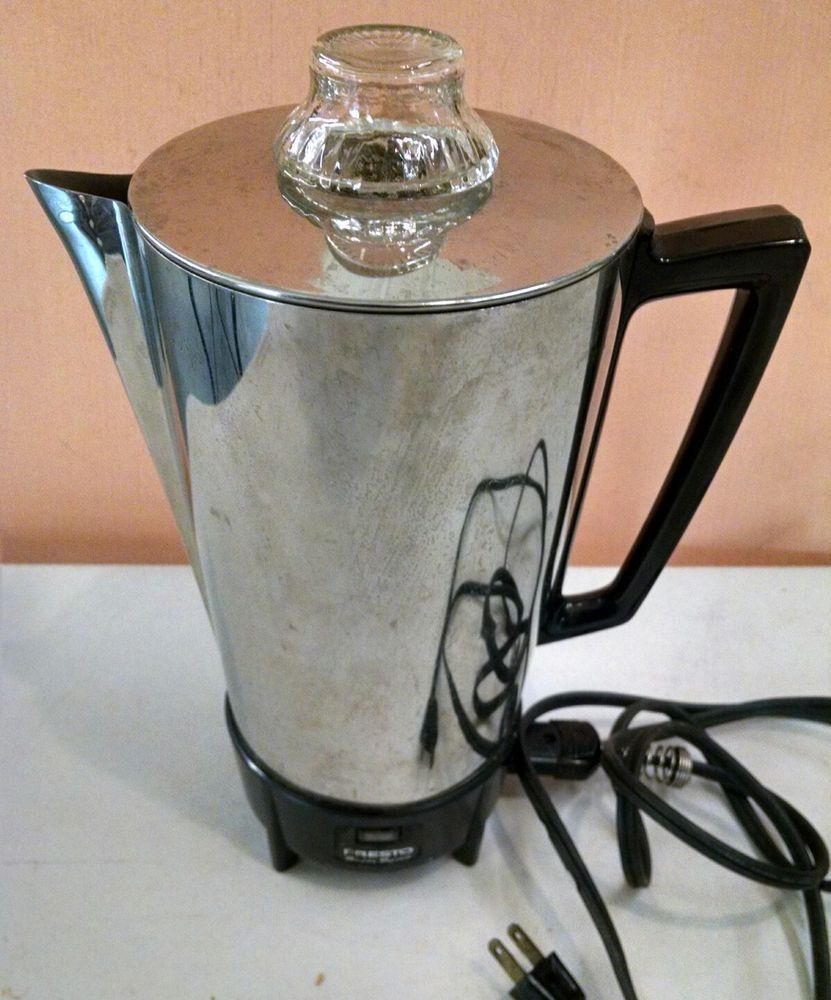 Vintage Coffee Maker Presto Pk03b Super Speed 12 Cup Electric Percolator Presto Vintage Coffee Coffee Maker Reviews Coffee Maker