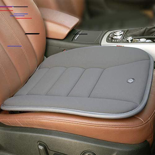 Raorandang Car Seat Cushion Pad For Car Driver Seat Office Chair Home Use Memory Foam Seat Cushion Grey In 2020 Car Seat Cushion Memory Foam Seat Cushion Cushion Pads