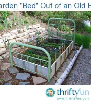 Make A Garden Bed Out Of An Old Bed Frame Old Bed Frames
