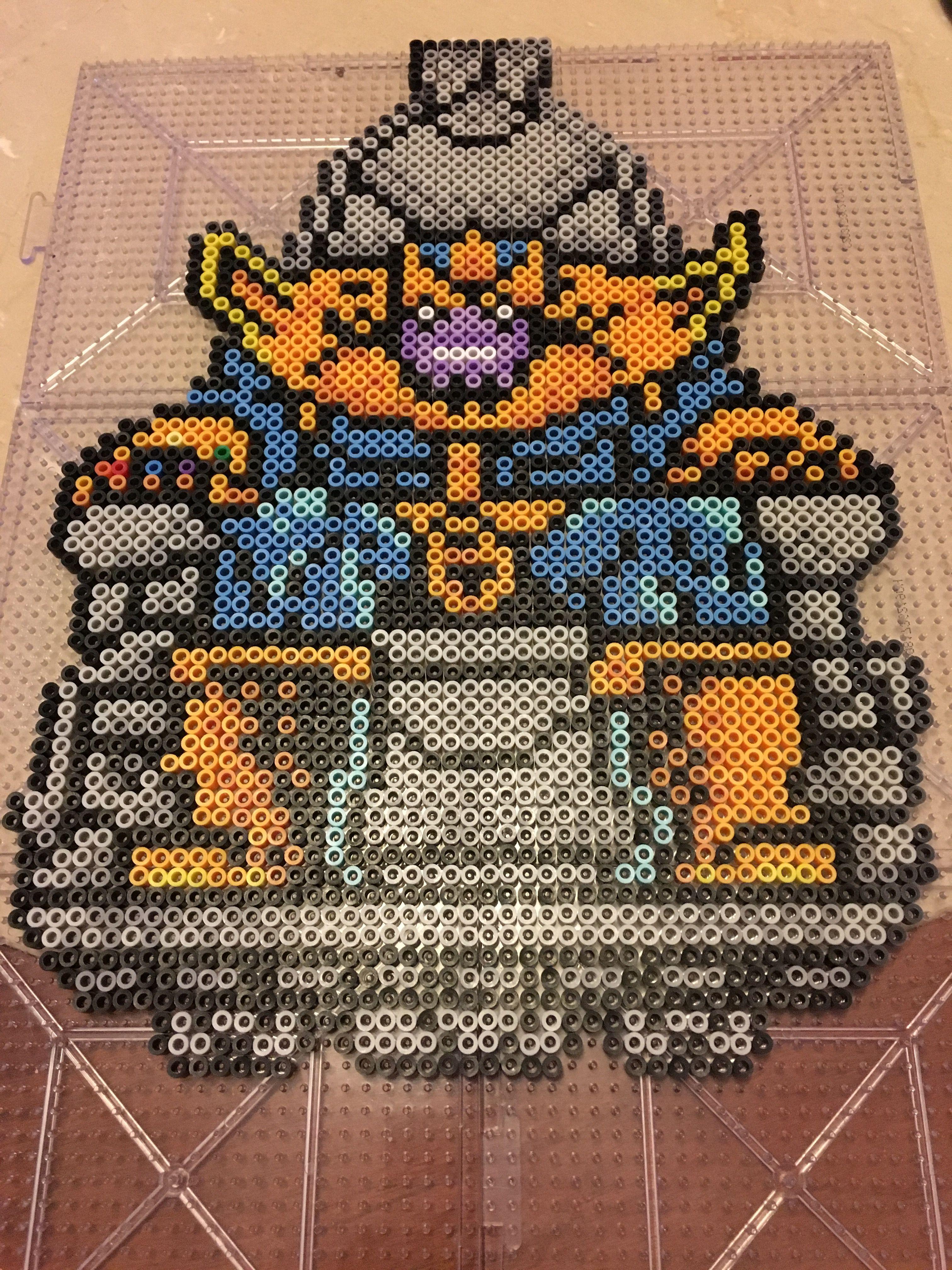Thanos marvel perler Created Pinterest