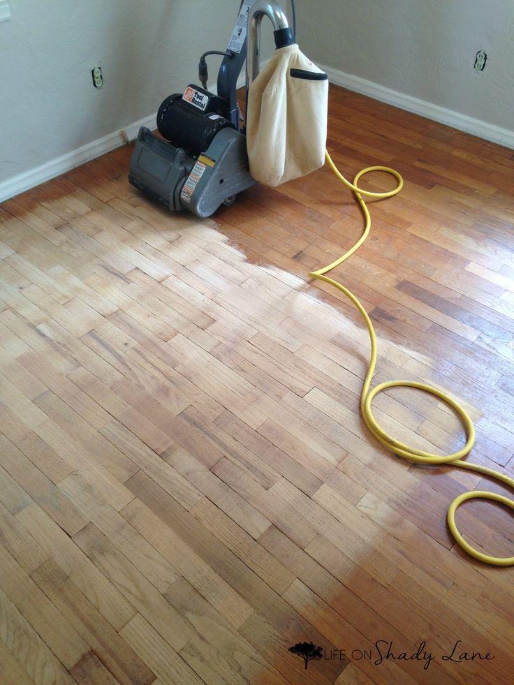 How to Refinish Hardwood Floors Part 1 Refinishing