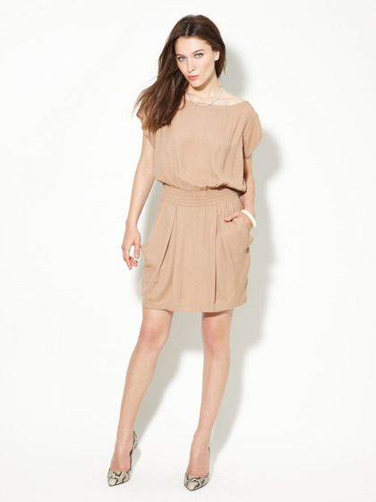 ALC  Emily Pleated Crepe Dress