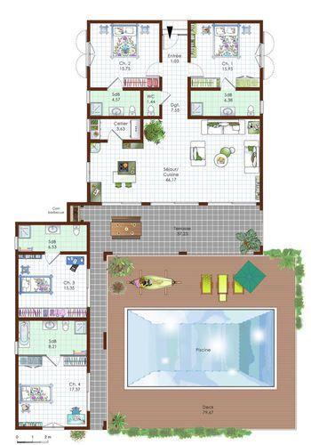 Une maison r alis e sur mesure pinterest plans maison for Plan construire sa maison