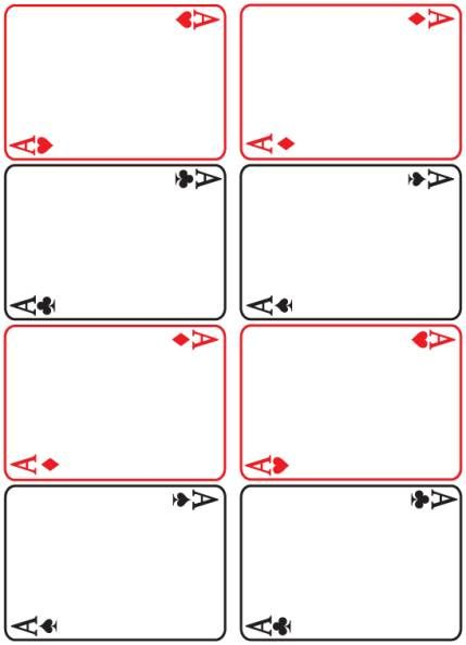 Pin By Andrea Pedersen On Mixers Printable Playing Cards Blank Playing Cards Card Templates Printable