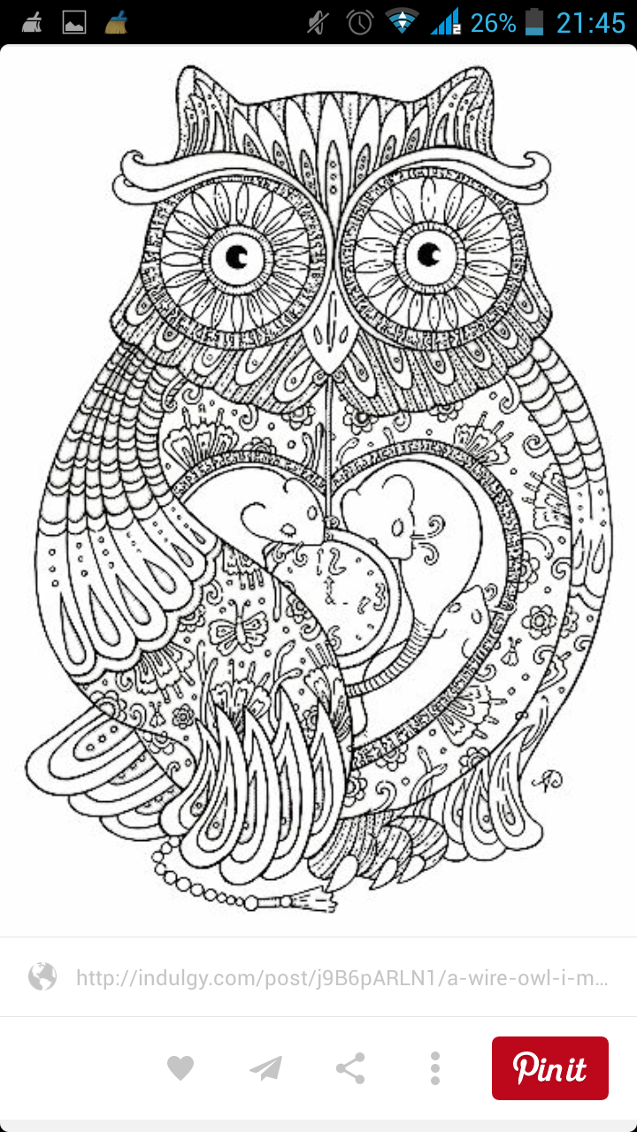 Baykuş Pattern Pinterest Adult Coloring Pages Coloring Pages