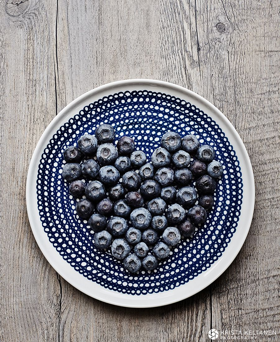 Blueberry Heart...  sweet way to serve up some Maine berries.
