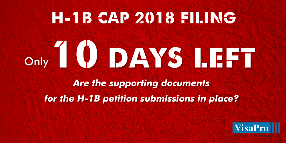 10 Day H1B Cap Red Alert Prepare H1B documents package