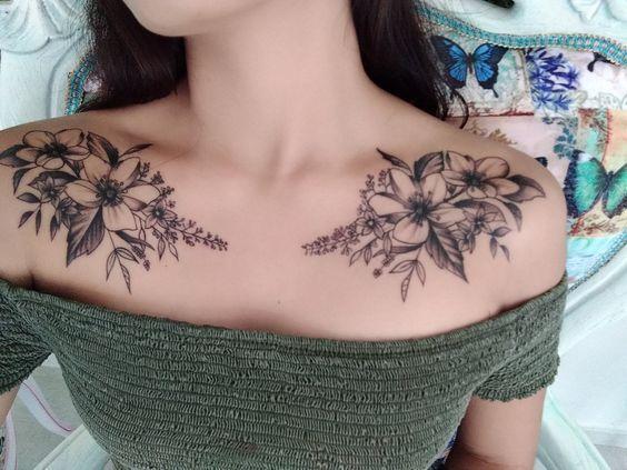 tattoo style flower