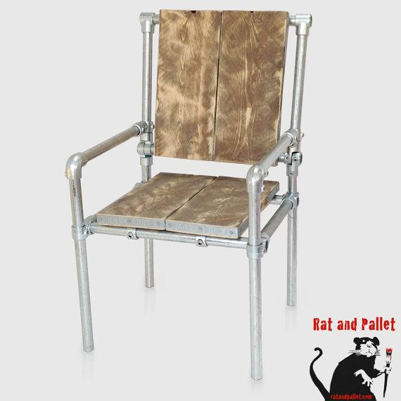 Office Chair For Sale in Metal Pipe and Scaffold Board