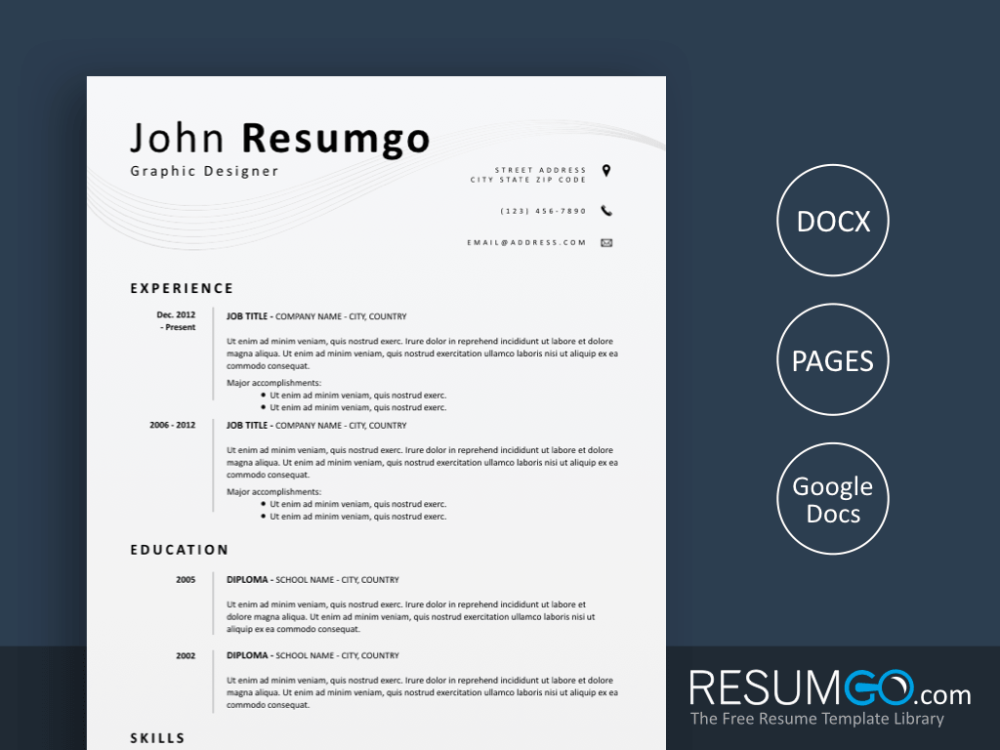 EUMELIA Simple and Clean Resume Template