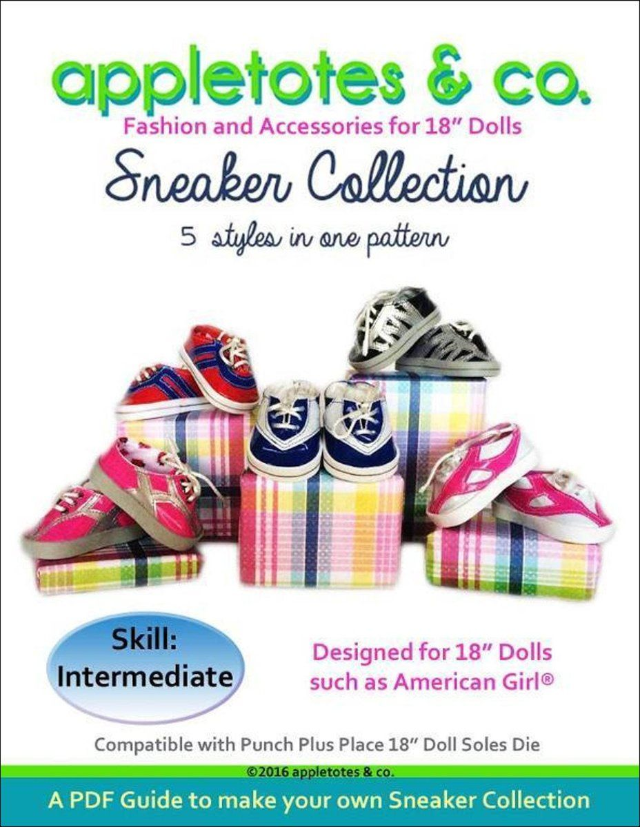 Sneaker Collection Sewing Patterns for 18 Dolls #18inchcheerleaderclothes