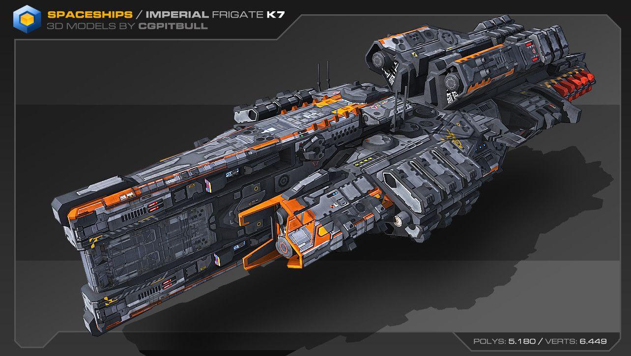 Artstation Heavy Spaceships 02 Stephane Chasseloup Spaceship