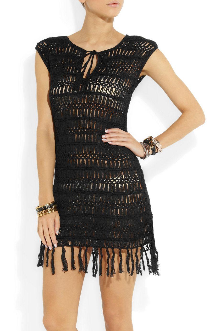 Melissa Odabash|Barrie macramé cotton dress