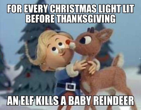 Christmas Before Thanksgiving Meme.Christmas Story Meme For Every Christmas Light Lit Before