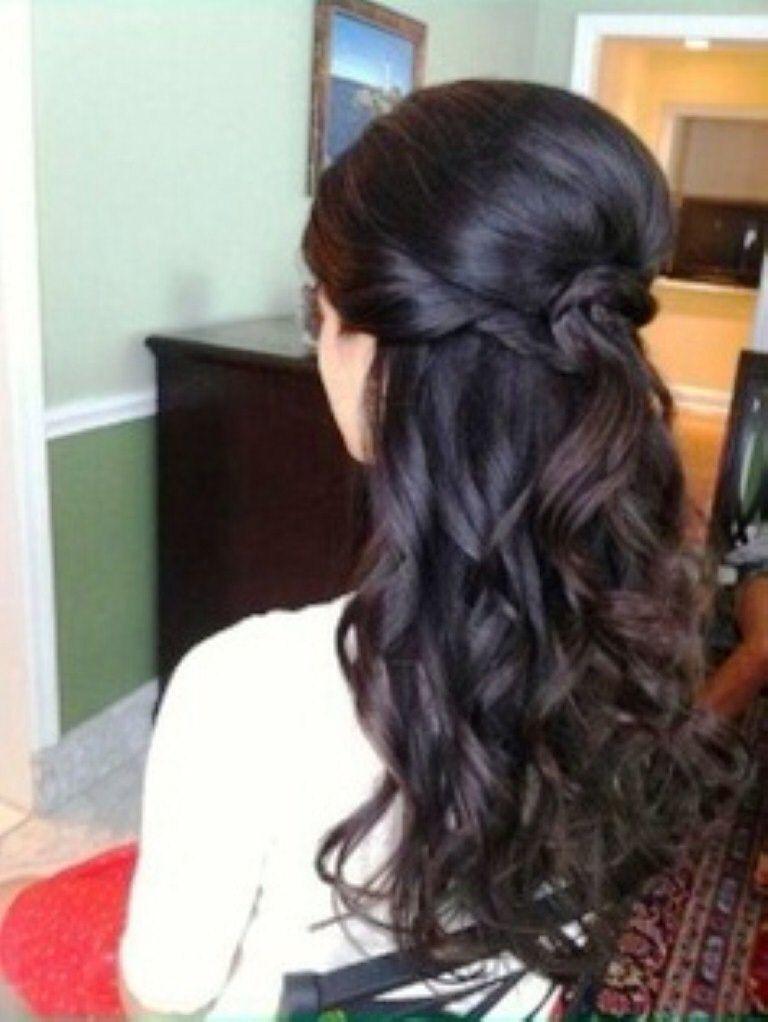 Wedding Hair Half Up Half Down Haar Styling Frisuren Offene Haare Frisur Ideen
