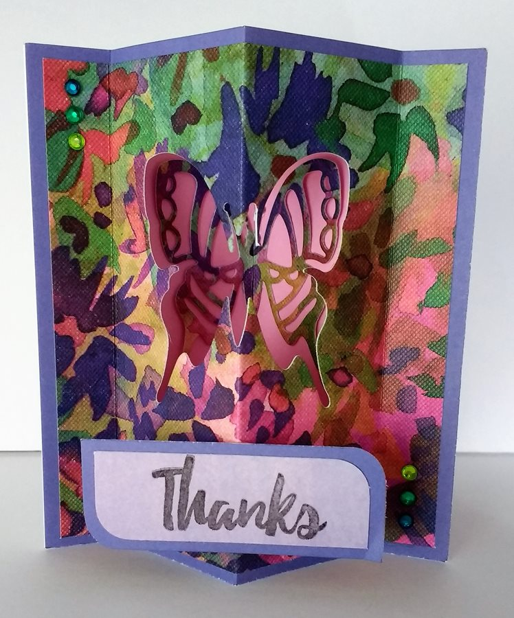 wild flower inside out pop up thank you card  creative