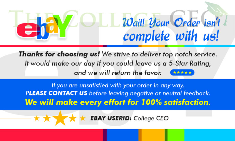 Ebay Seller Thank You Feedback Cards Template Free Download The College Ceo Good Essay Card Templates Free Resume Template Free