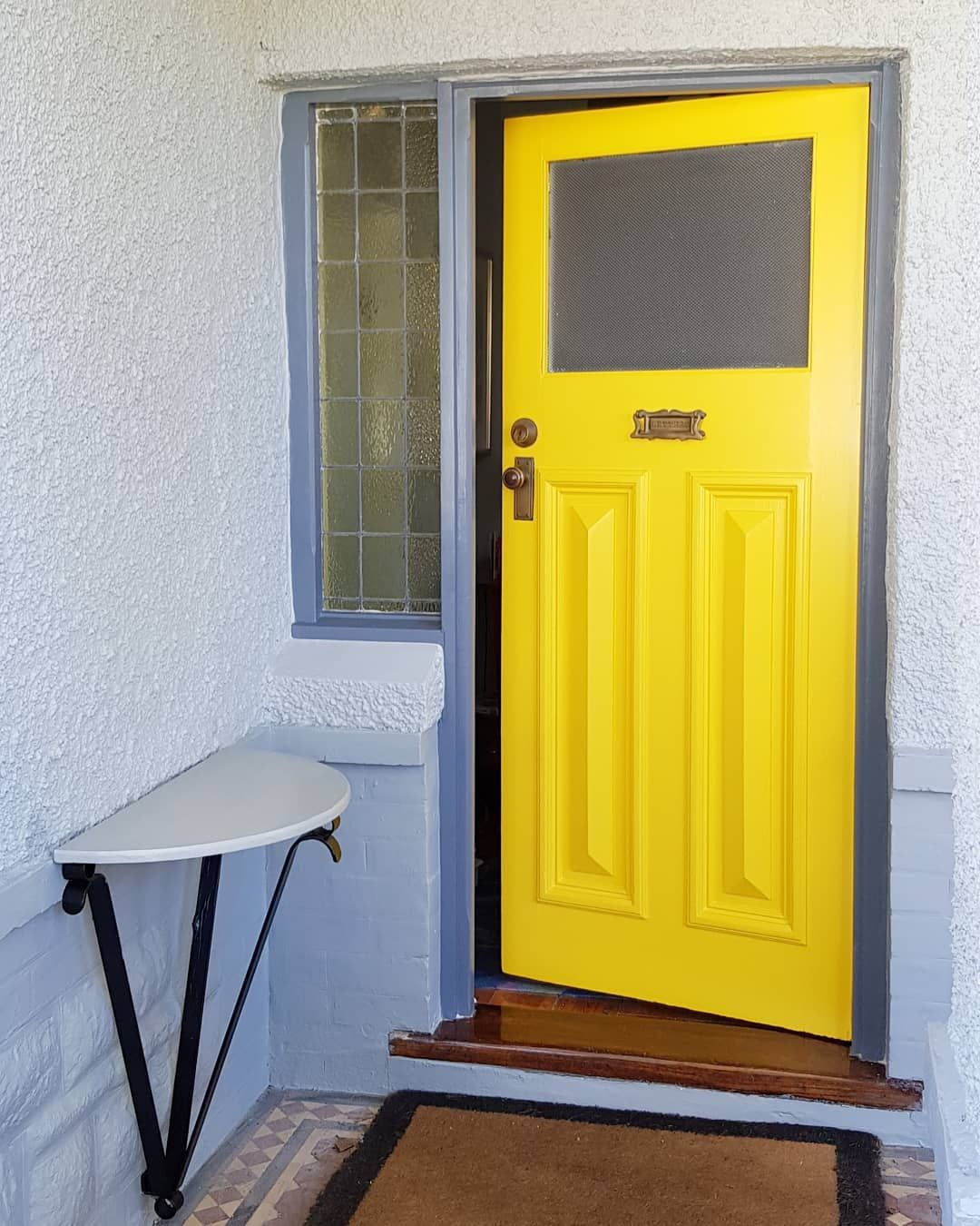 Lemons Daffodils Limoncello Bananas And Big Bird Are All Things Yellow And Now This Door Is Also Akp Paintingandde Decorative Painting Front Door Home Decor