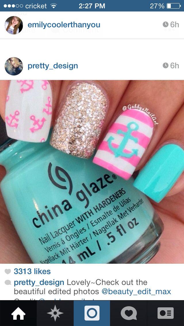 Nails #Cute | uñas | Pinterest | Colourful nails, Nail nail and ...