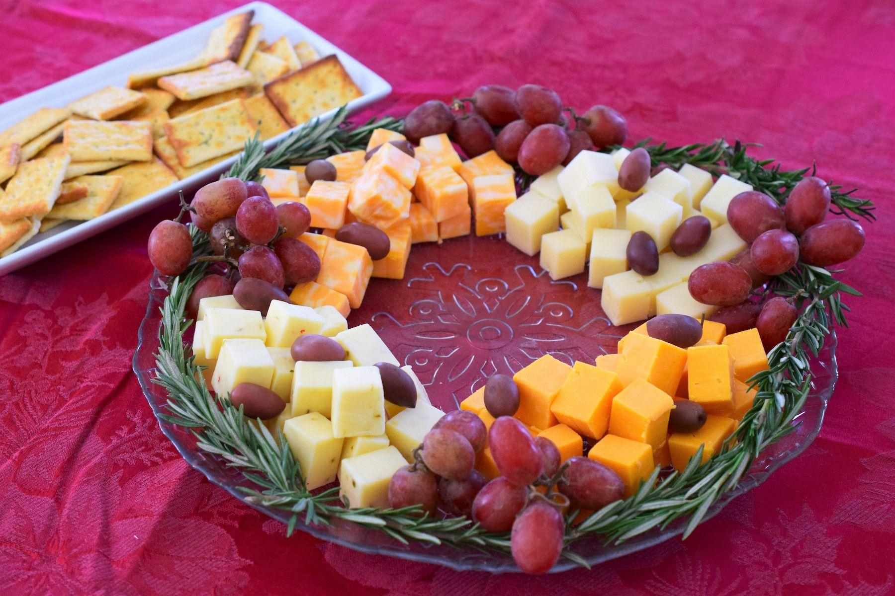 Cheese and grape wreath recipe food festival food recipes