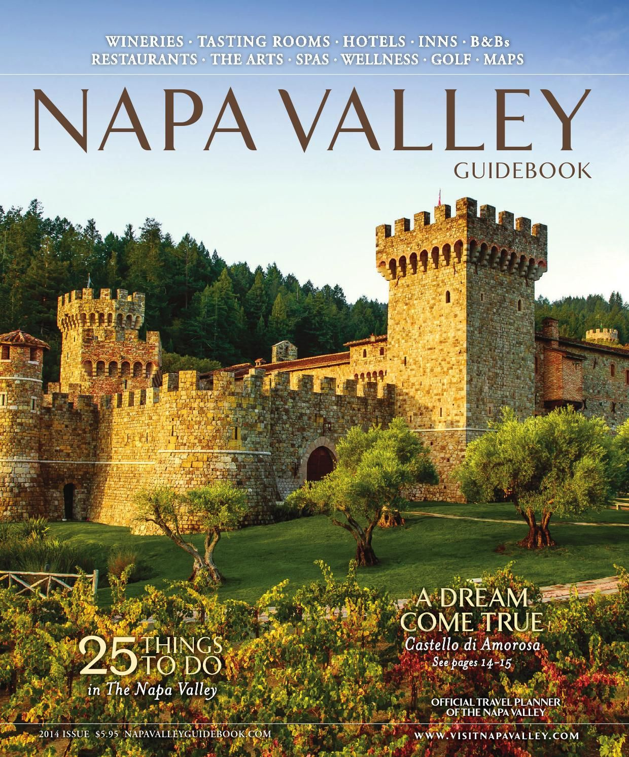 The Napa Valley Guidebook is your comprehensive guide to all things Napa Valley. Find hotels, wineries, restaurants, arts and culture, spas, shopping, outdoor adventures and more.