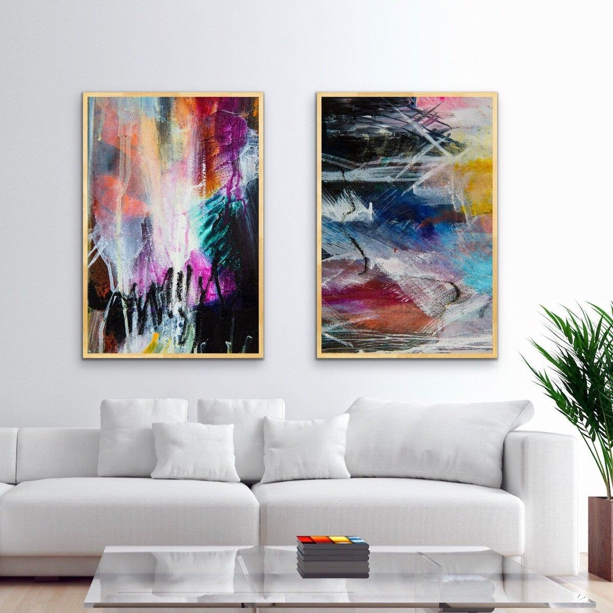 Large Abstract Paintings 24x36 Set Of 2 Printable Wall Art Etsy In 2021 Large Abstract Wall Art Printable Wall Art Etsy Pretty Wall Art