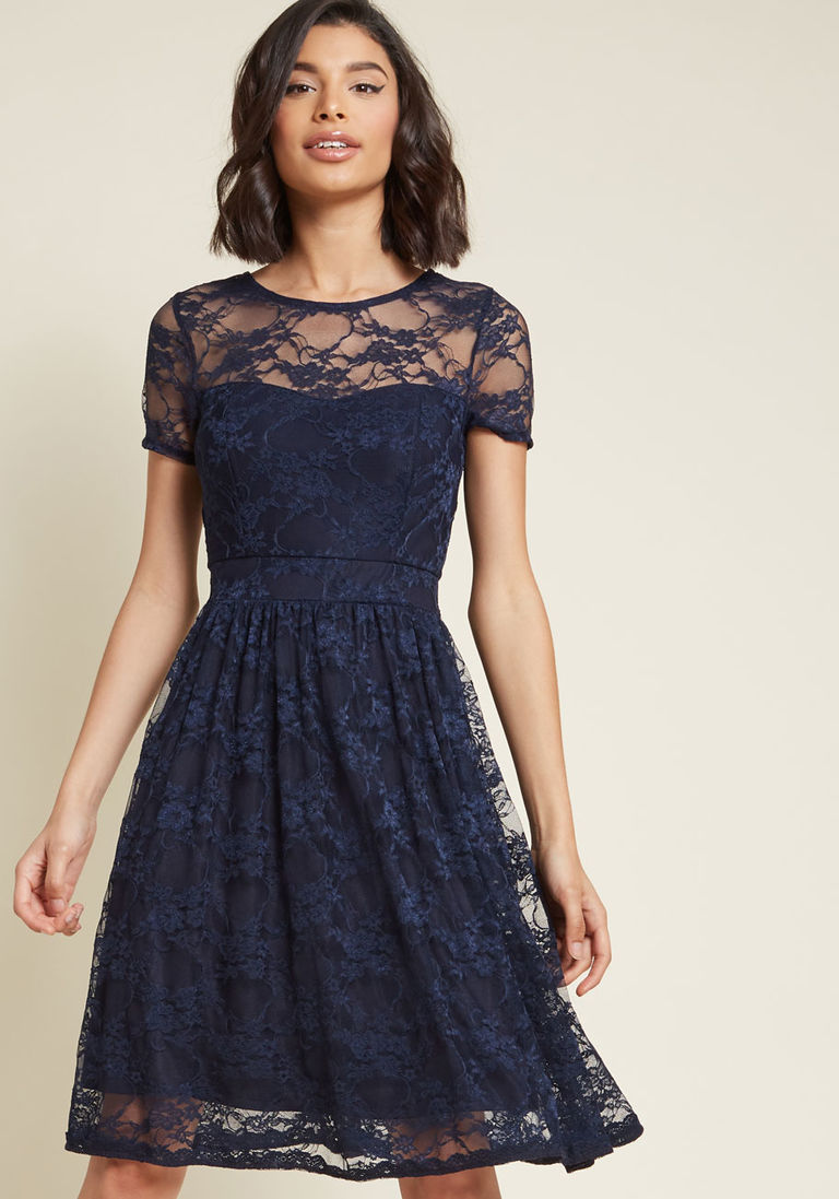 Lace dress navy  Classic Contributor Lace Dress in Navy  Products  Pinterest