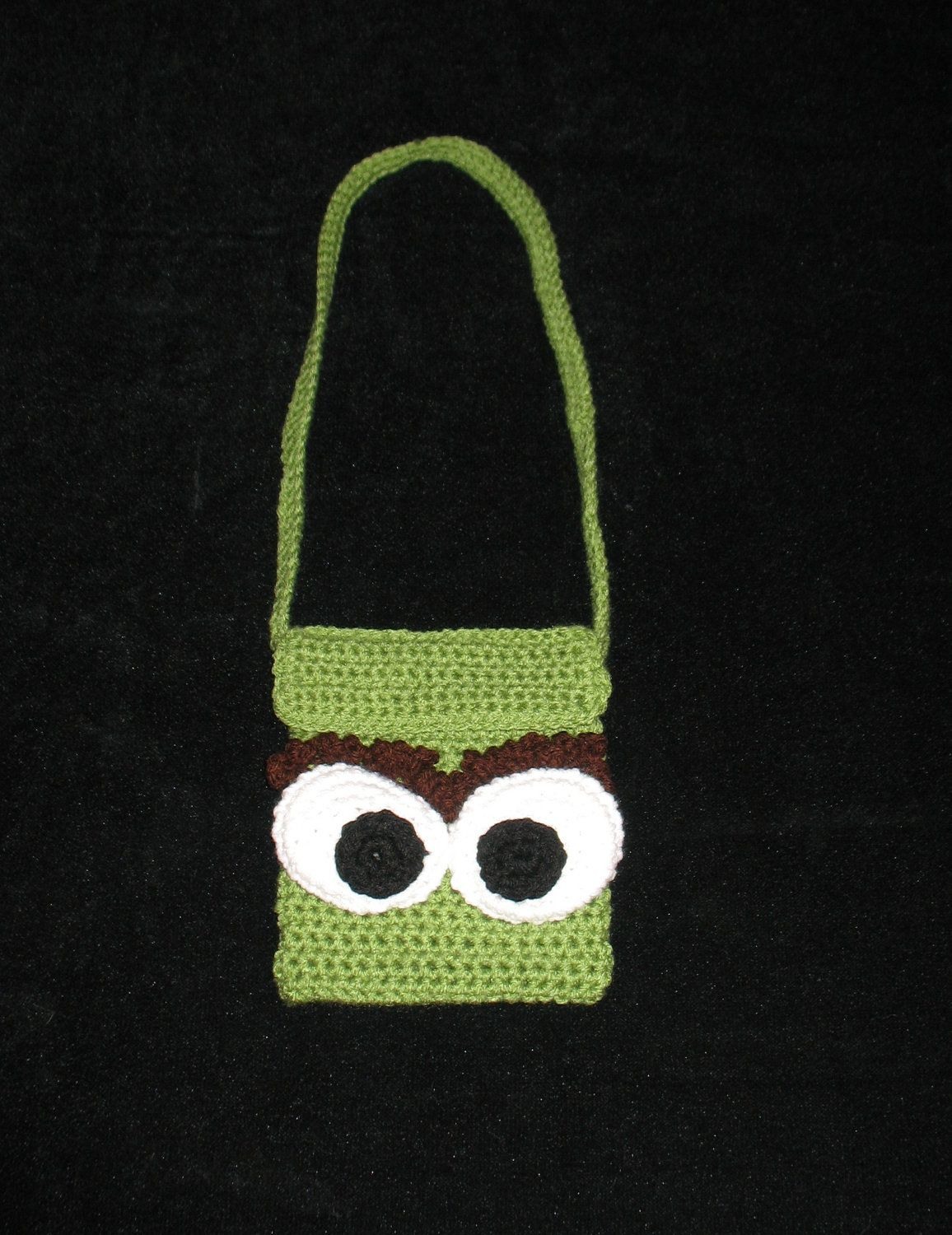 ed61b47ef12 OSCAR THE GROUCH Sesame Street Crocheted Purse.  14.98