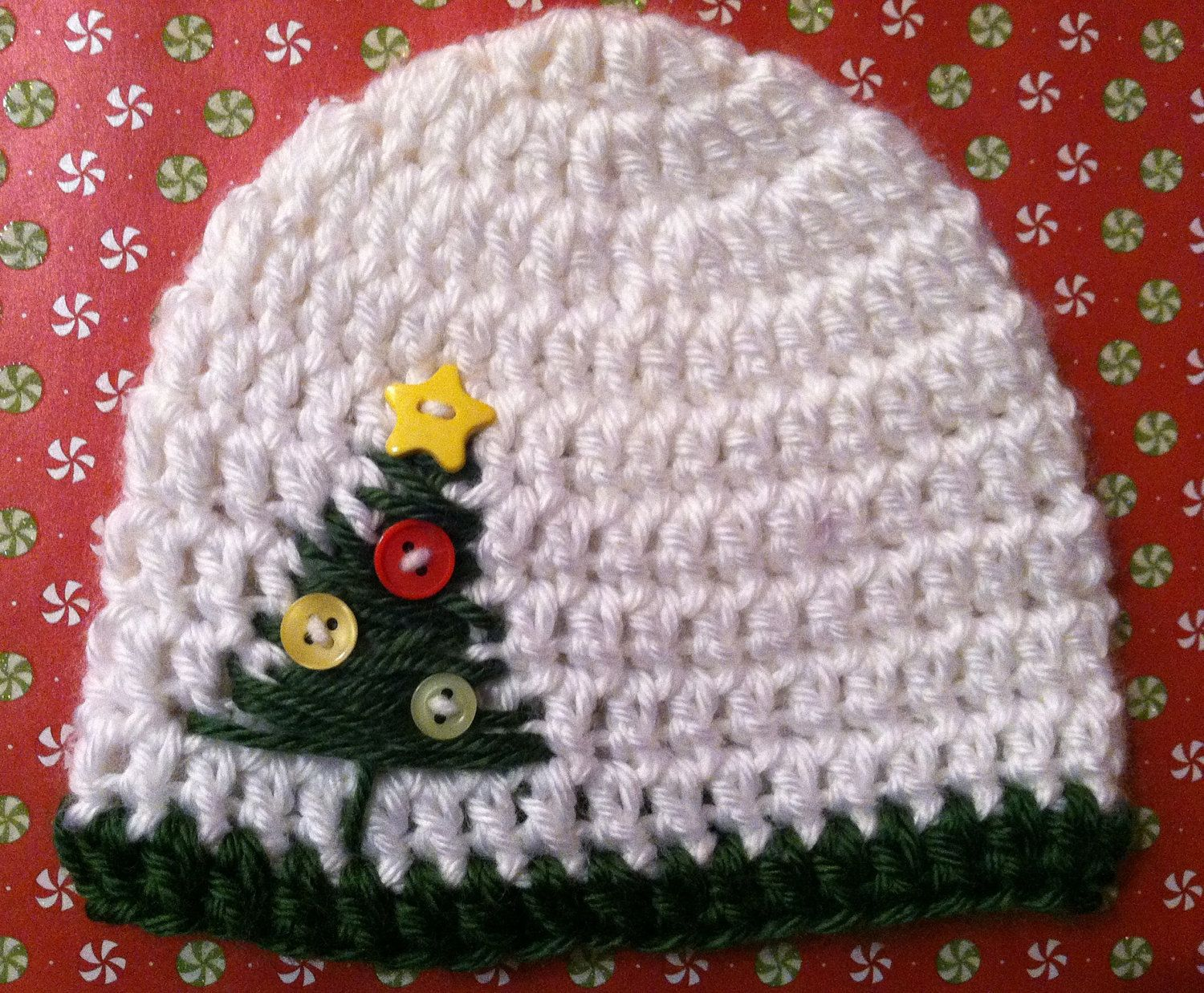 Baby Christmas Tree Crochet Hat