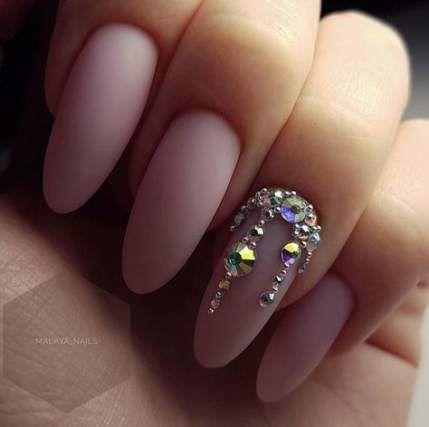 38 ideas birthday nails design bling in 2020  rhinestone