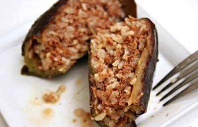 Stuffed Eggplants With Rice And Ground Beef Saveur Ground Beef Dishes Red Meat Recipes Recipes