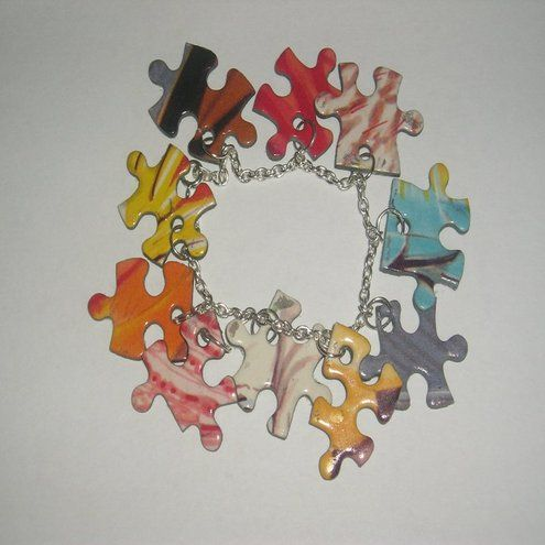 We are recycling old jigsaw puzzle