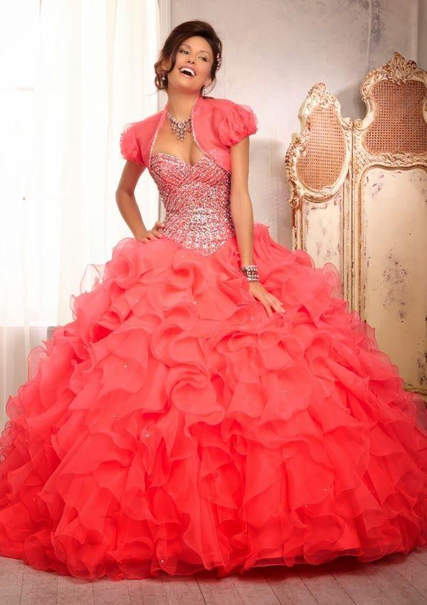 a18d97d330 Excelentes vestidos de 15 años estilo princesa