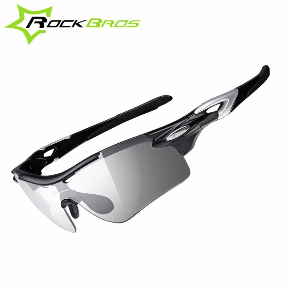 ee3798b11d ROCKBROS Polarized Photochromic Cycling Bike Glasses Sports Bicycle Colour  Changing Sunglasses Goggles Eyewear with Myopia Frame