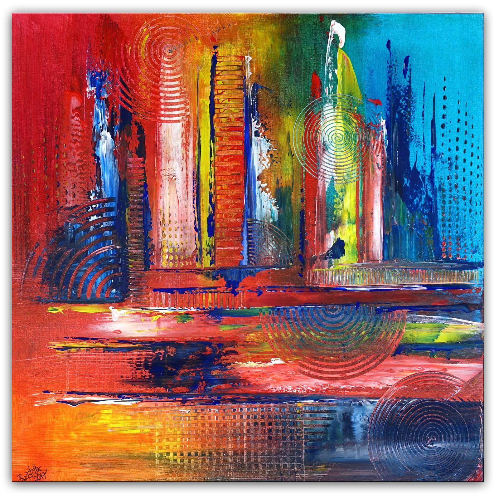 fluid art abstrakte kunst malerei grun rot gemalde acrylbilder abstrakt wandbild geometrische formen bilder acryl