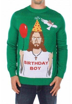 Foute Kersttrui Led.Jesus Birthday Boy Lord Jesus Saves Kerstmis Mannen Kerst