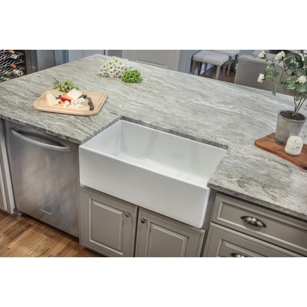 IPT Sink Company Apron Front Fireclay 33 in. Single Bowl ...