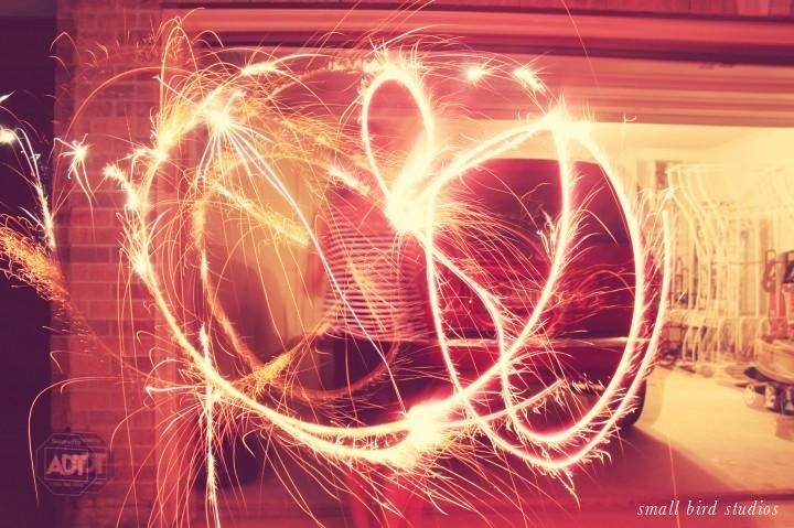 writing with sparklers // link to great tutorial on camera settings