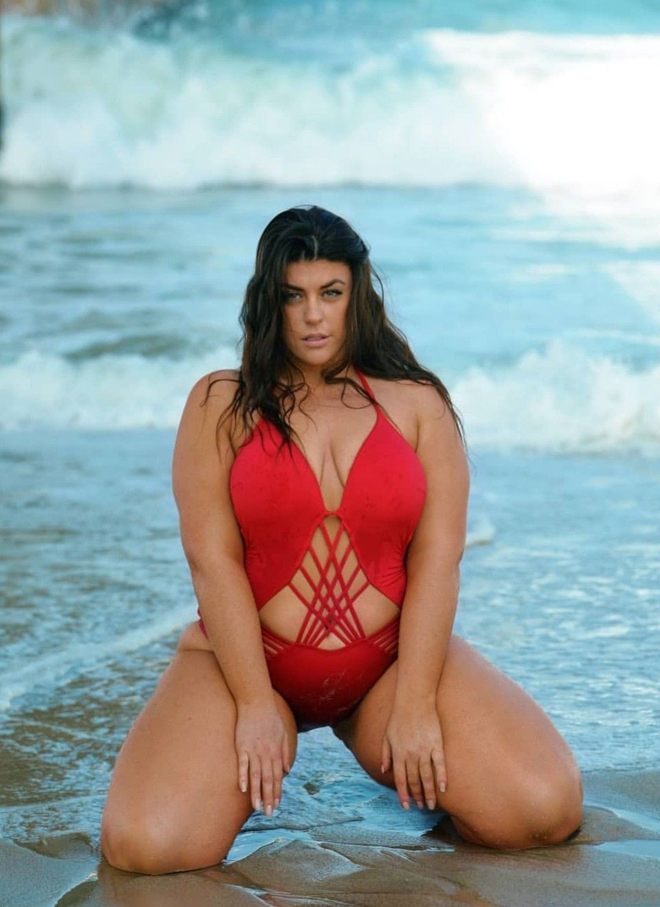 723b38dfcc Pin by jay on Plus Size Swimsuits in 2019 | Big legs, Plus size ...