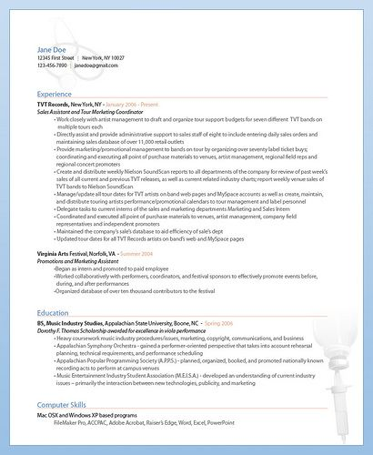 Free Medical Resume Template from ResumeBear - Track Down the - artist resume template
