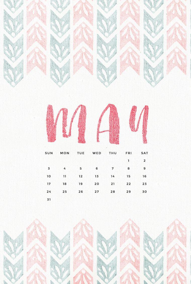 Watercolour Pink Teal May Calendar Iphone Phone Wallpaper Background Lock Screen Calendar Wallpaper Calendar Background Phone Wallpaper