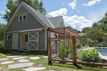 Cartwright Road Farmhouse Exterior Fence Design Farmhouse Garden