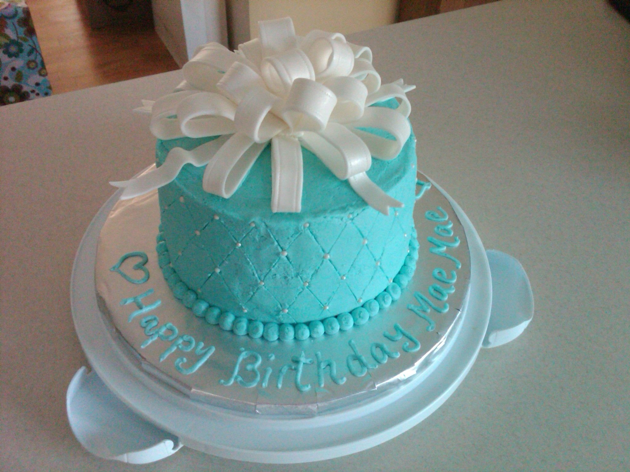 Cool Tiffany Blue Birthday Cake With Images Blue Birthday Cakes Funny Birthday Cards Online Alyptdamsfinfo
