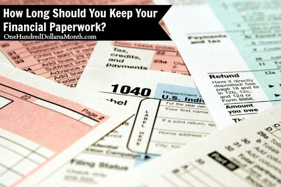 How Long Should You Keep Your Financial Paperwork Tax Deductions