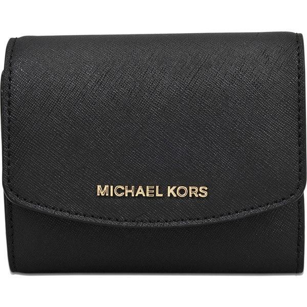 9cd6d49630a7 Michael Michael Kors Money Pieces SM Trifold Coin Wallet ($89) ❤ liked on  Polyvore